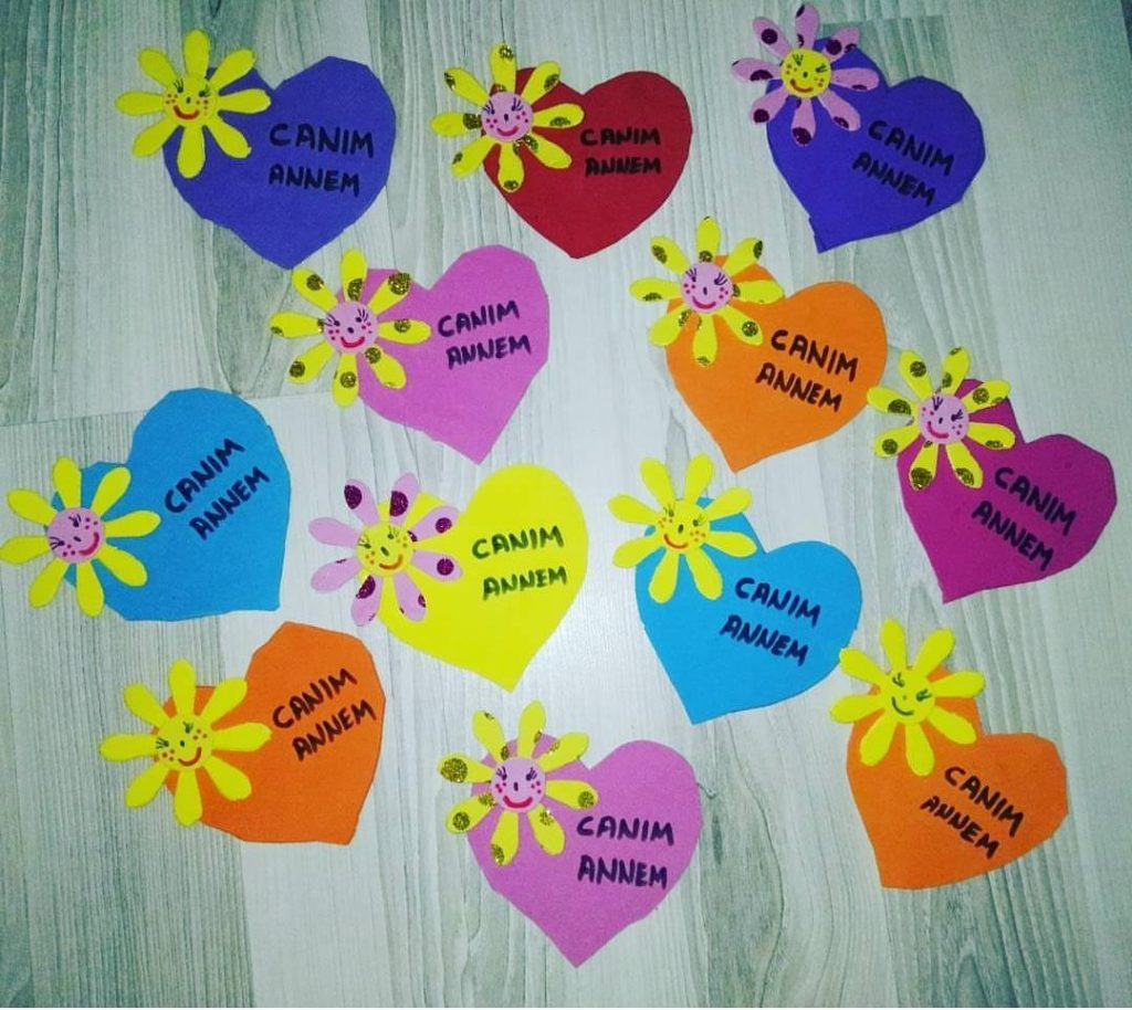 heart craft for mothers day