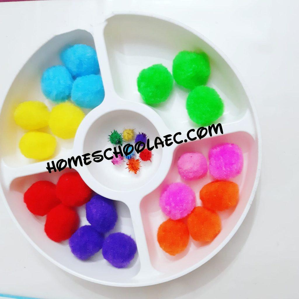 pom poms color matching game