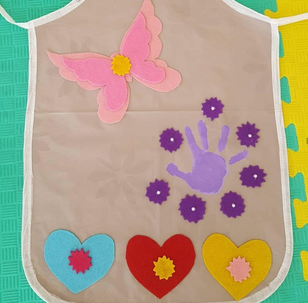 mothers day handprint art