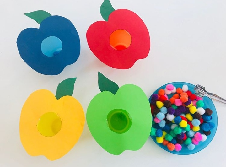 pom poms color activity fine motor