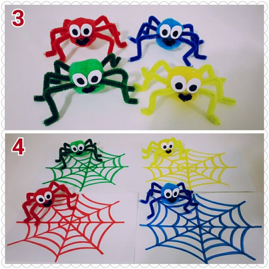 spider color matching for kids