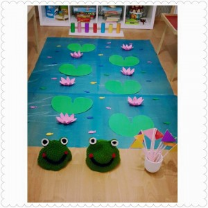 frog theme color matching activity