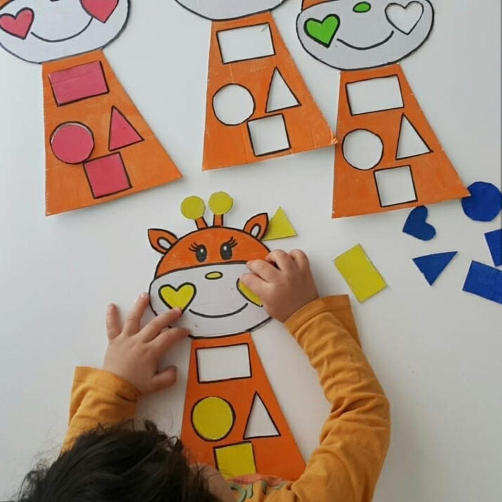 shape matching activity for kids