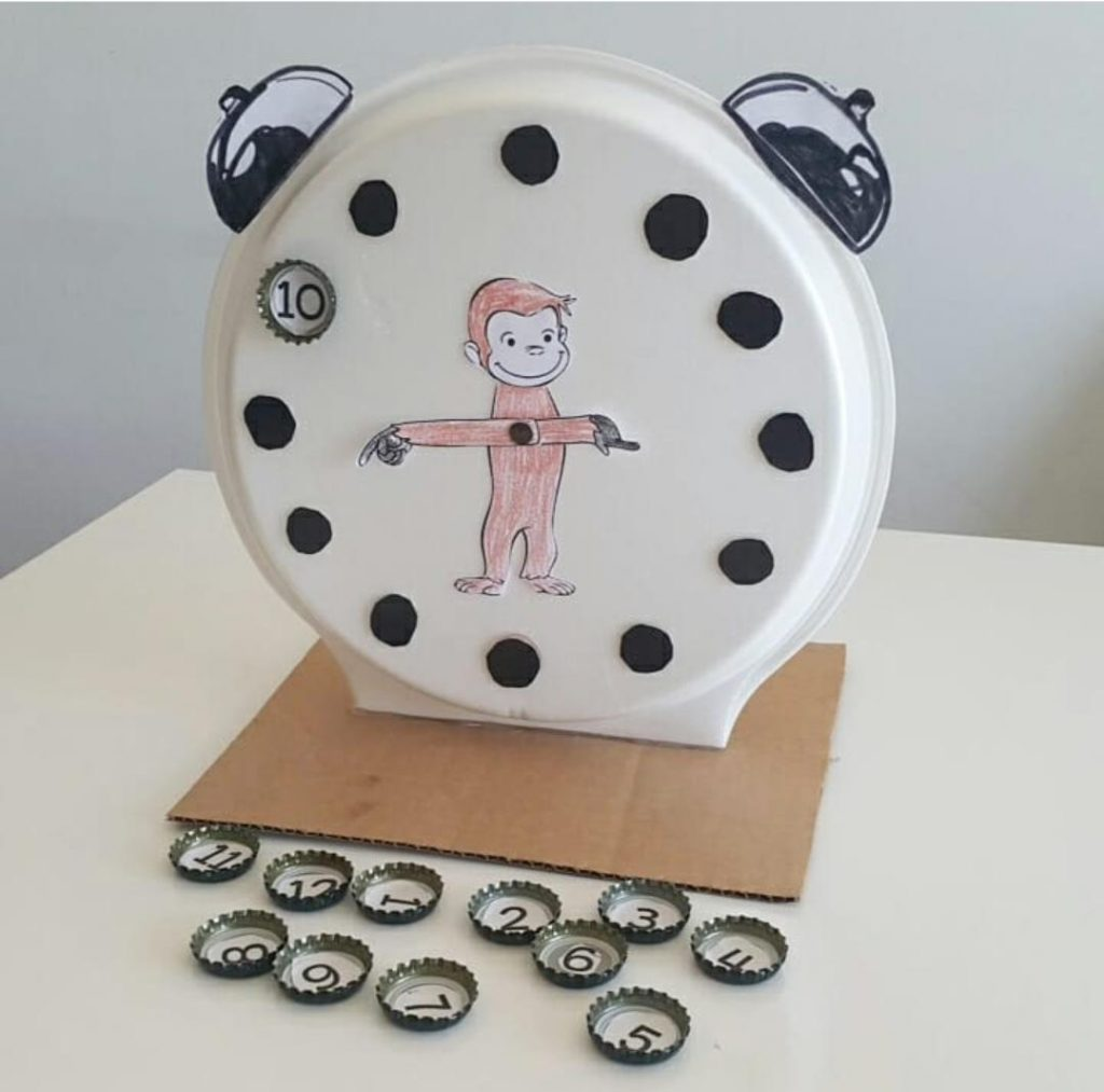 paper plate telling time