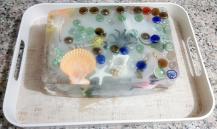 ocean sensory bin for kids