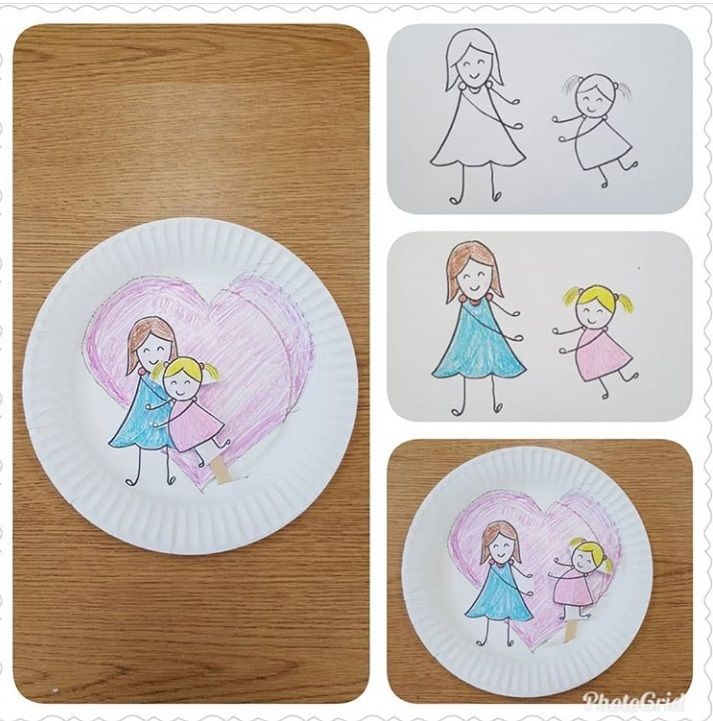 paper plate mothers day craft activity
