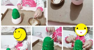 play dough cactus fine motor
