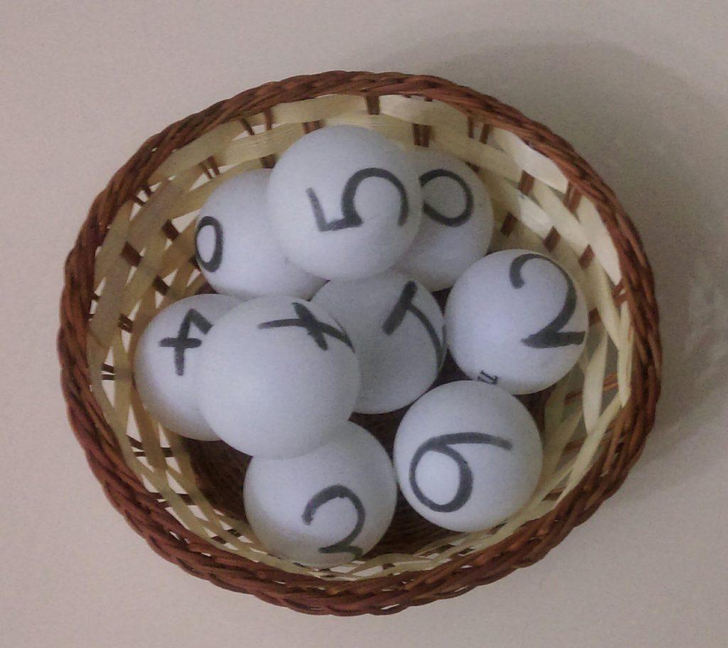 playing golf ball