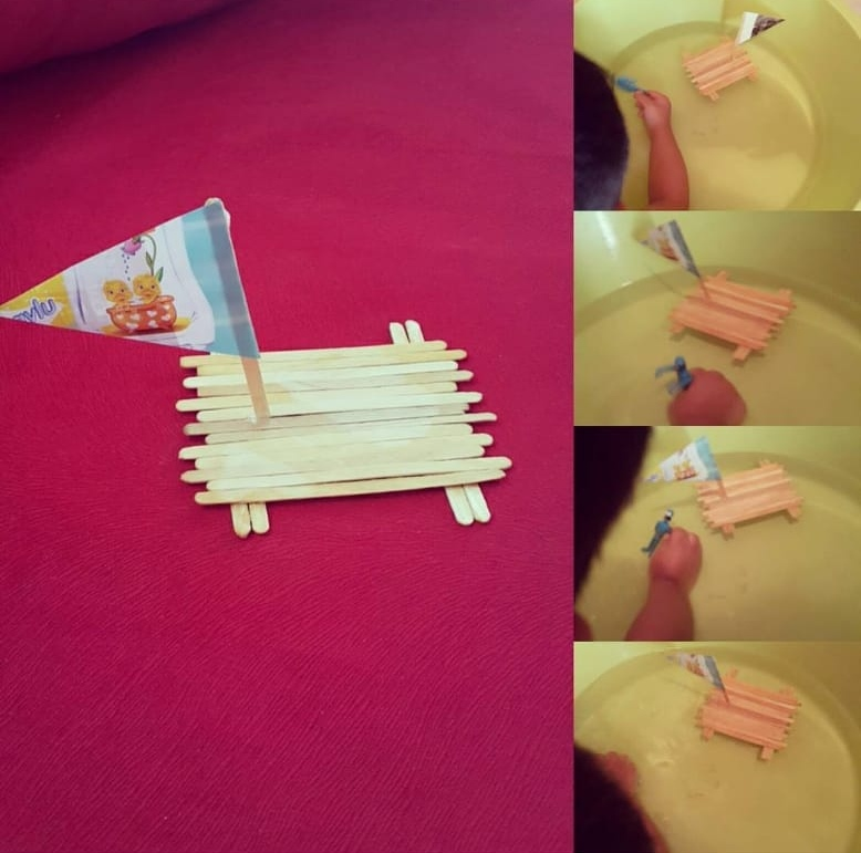 wooden popsicle sticks boat craft