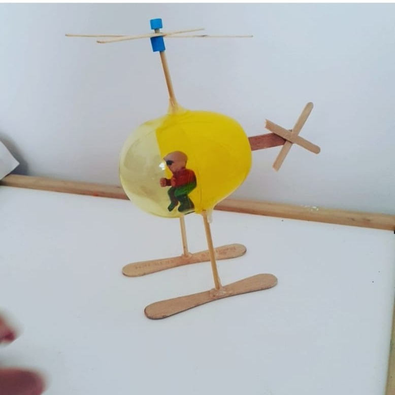 wooden popsicle sticks helicopter craft