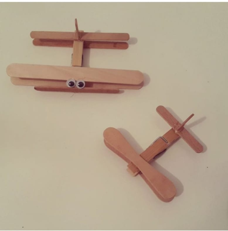 wooden popsicle sticks plane craft