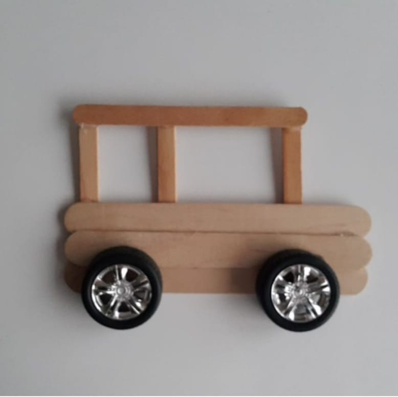 wooden popsicle sticks car craft
