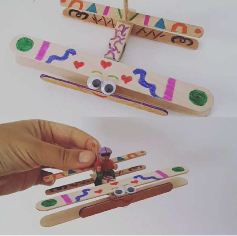 wooden popsicle sticks air plane craft